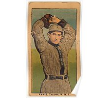 Benjamin K Edwards Collection Annis Tacoma Team baseball card portrait Poster