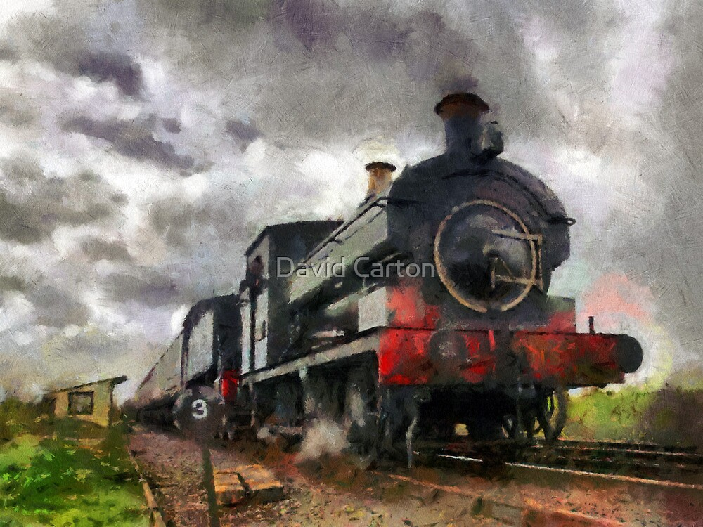 Steam train passing by buttonpresser
