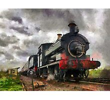 Steam train passing Photographic Print