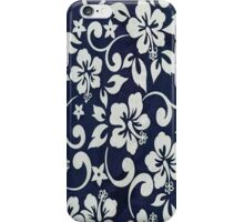 Blue Floral Print iPhone Case/Skin