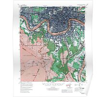 Map of New Orleans Louisiana Poster