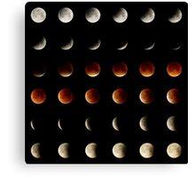 2015 Lunar Eclipse Matrix Canvas Print
