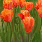 Vibrant Orange Tulips by CrowningGlory