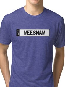 Euro plate simple - weesnaw Tri-blend T-Shirt