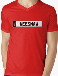 Euro plate simple - weesnaw Mens V-Neck T-Shirt