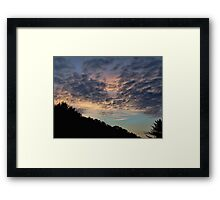 Night falling Framed Print