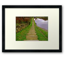 Stepping Down Framed Print