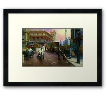 Billingsgate fish market. Framed Print