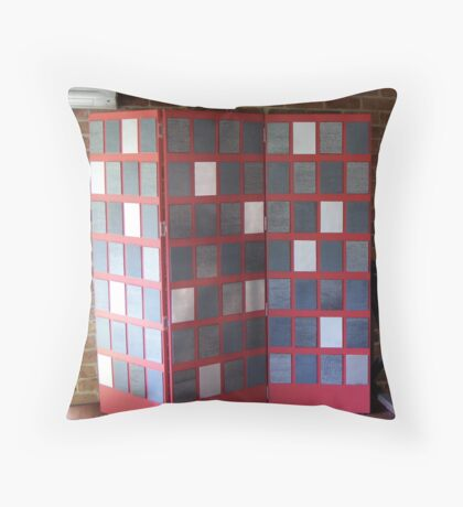 """""""Ay-Zed - A Feast Of Words"""" - Complete Work Throw Pillow"""
