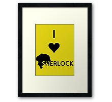 Love Sherlock Framed Print