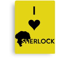 Love Sherlock Canvas Print
