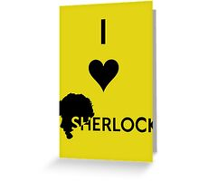 Love Sherlock Greeting Card