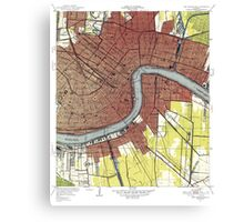Map of New Orleans Louisiana Canvas Print