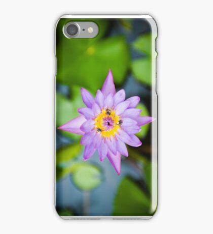 Lilly Flower with bees iPhone Case/Skin