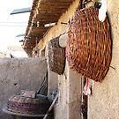 Baskets Outside the Summer Kitchen © by Ethna Gillespie