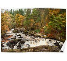 River Brann,Dunkeld,Perthshire,Scotland Poster