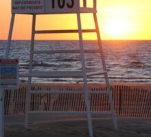 Sunset along Lake Michigan at Silver Beach - 7 Sticker