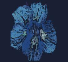 Blue flower tshirt by VixenFirepaw