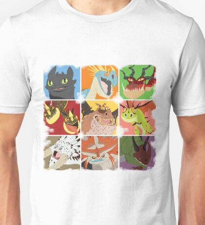 .::Noteable Dragons::. Unisex T-Shirt