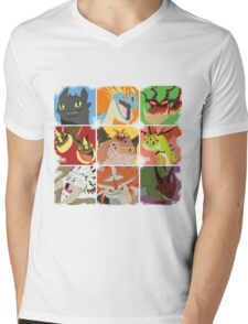 .::Noteable Dragons::. Mens V-Neck T-Shirt