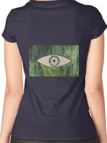 Sea Monster Eye   (t-shirt) Women's Fitted Scoop T-Shirt