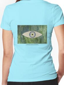 Sea Monster Eye   (t-shirt) Women's Fitted V-Neck T-Shirt