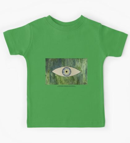 Sea Monster Eye   (t-shirt) Kids Tee
