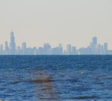 Chicago Skyline across Lake Michigan - 1 Sticker