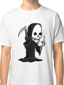 Grim Reaper Giving the Finger Classic T-Shirt