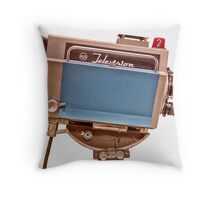 Retro Television Studio Camera Throw Pillow