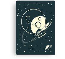 retro cpace card Canvas Print