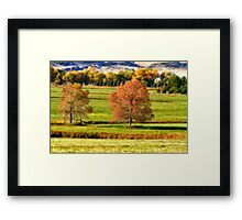Colorful Autumn Landscape Dream Framed Print