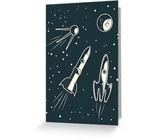 retro cpace card Greeting Card