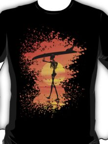 Skeleton with surfboard T-Shirt