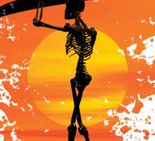 Skeleton with surfboard Sticker