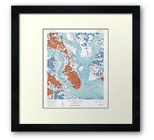 Charleston South Carolina Map Art Framed Print