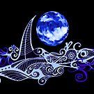 Card - Lunar Sailing - Ultramarine by MelDavies