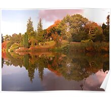 Country retreat  - Sandringham pond in the fall Poster