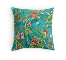 Morning Song - turquoise Throw Pillow