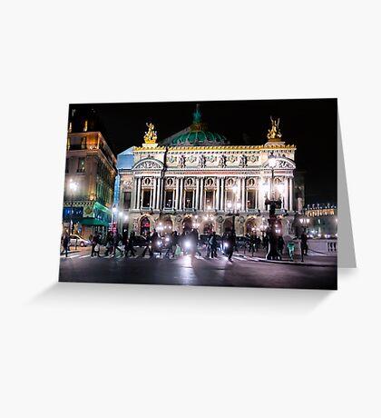 Paris Opera - Palais Garnier at Night Greeting Card