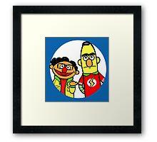 Leonard and Sheldon Muppets Framed Print