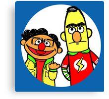 Leonard and Sheldon Muppets Canvas Print
