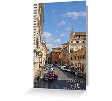 city life in Rome 2 Greeting Card