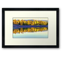 A1 Lake Fall Color Reflections Framed Print