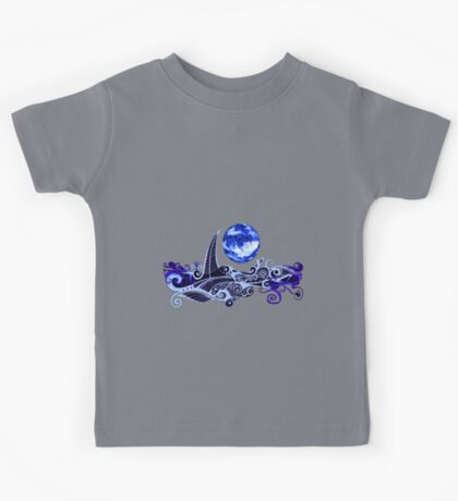 Tshirt - Lunar Sailing - Ultramarine Kids Tee
