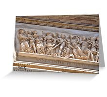 outside the Vatican on ceiling - Rome, Italy  Greeting Card