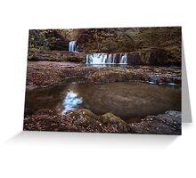 Sgwd Ddwli Isaf waterfalls South Wales Greeting Card