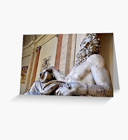 sculptures outside the Vatican Greeting Card