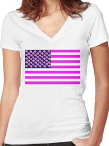 The United States of Pinkie Pie Women's Fitted V-Neck T-Shirt
