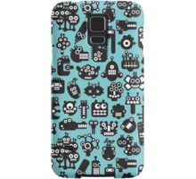 Robots faces blue. Samsung Galaxy Case/Skin